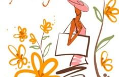 Fashion Hand Drawn Vector Spring Girl 04