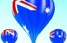 Vector Hot Air Balloon Australian flag