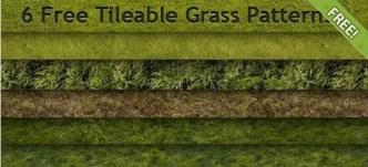 6 Tileable Grass Photoshop Patterns
