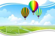 Vector Cartoon Sky Background 01