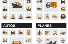 Vector Transportation Tools Icon Set