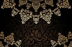 Vintage Golden Vector Floral Frames 03