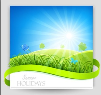Bright and Clean Summer Holiday Background Vector