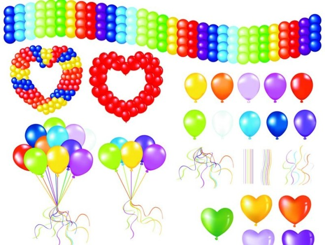Colorful Holiday Balloons 05