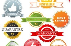 Vector Sales Label and Badge Set 01