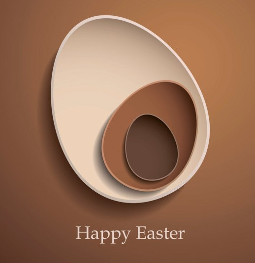 Elegant Vector Happy Easter Elements 02