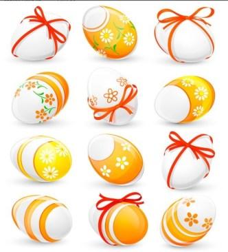 Elegant Vector Happy Easter Elements 05