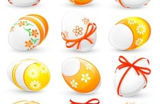 Elegant Vector Happy Easter Elements 05