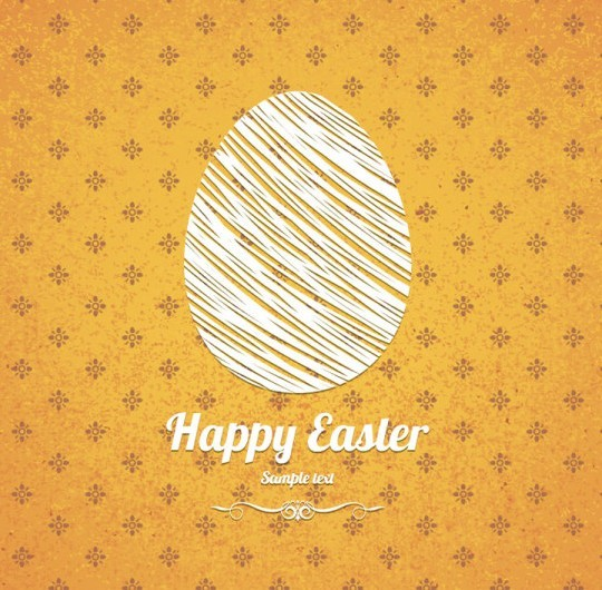 Elegant Vector Happy Easter Elements 06
