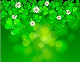 Green St.Patrick's Day Shamrock Background