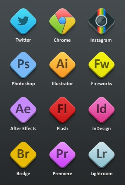Sleek Adobe Product PSD Icons