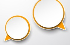Smooth Paper-Like Chat Bubble Vector Labels 02