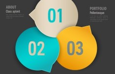 Stylish Infographic Origami Numeric Label Elements 06