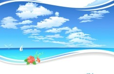 Vector Cartoon Sky Background 04