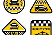 Vector Business Taxi Signs