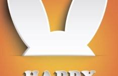 Vector Paper ShapeEaster Bunny Design