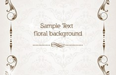 Clean and Elegant Vector Floral Frame 04
