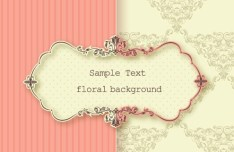 Clean and Elegant Vector Floral Frame 05