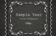 Clean and Elegant Vector Floral Frame 07