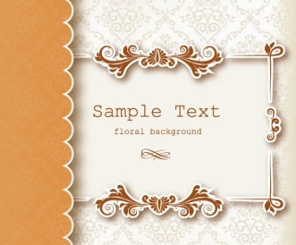 Clean and Vintage Floral Background Vector 04