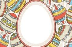 Colorful Easter Egg Background Vector 01