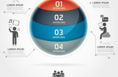 Vector Infographic Option Data Elements 02