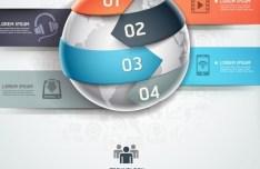 Vector Infographic Option Data Elements 04