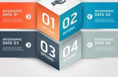 Vector Infographic Option Data Elements 05