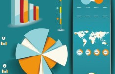 Vector Infographic and Chart Design Elements 02
