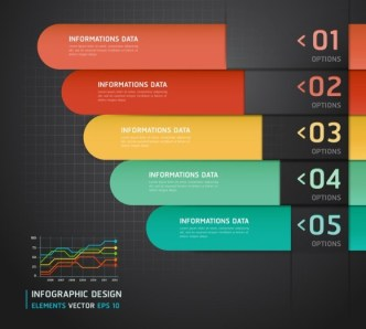 Fashion Vector Infographic Option Elements 03