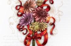 Elegant Colorful Spring Flower Background 04