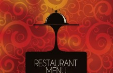 Elegant Vintage Restaurant Menu Vector Design 04