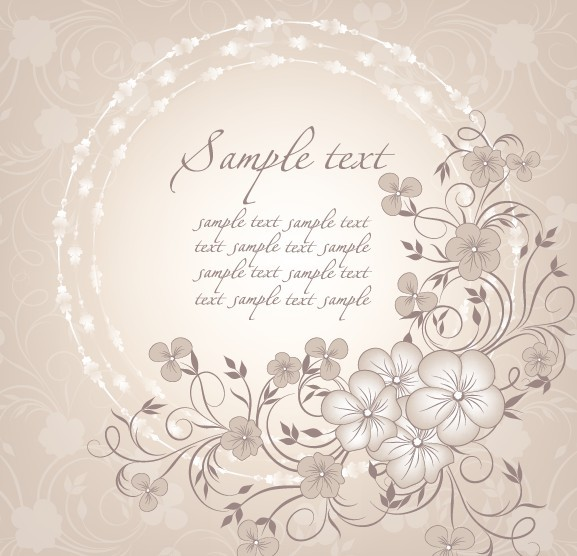 World Of Architecture 16 Simple Elegant And Affordable: Free Simple And Elegant Flower Vector Background 01