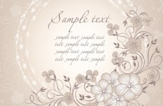 Simple and Elegant Flower Vector Background 01