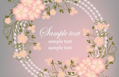 Simple and Elegant Flower Vector Background 04