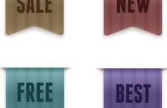 Sleek Fabric Sales Vector Icons 02