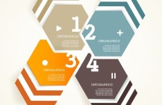 Vector Infographic Arrow Circle Elements 01