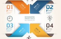 Vector Infographic Arrow Circle Elements 06