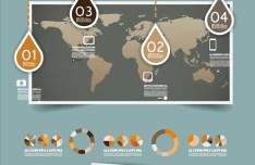 Creative Infographic Data Display Elements Vector 06