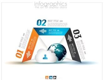 Creative Infographic Data Display Elements Vector 09