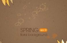 Vintage Spring Sunflower Background 02