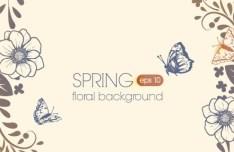 Primitive Simplicity Spring Flower Background Vector 04