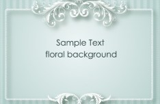 Simple and Clean Vector Floral Border and Frame 04