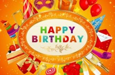 Fantastic Happy Birthday Vector Background 01