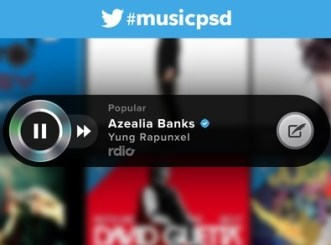 Twitter Music Player Widget PSD