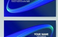 Vector Vertical Business Card Set 01