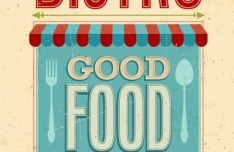 Retro Good Food Promotional Poster Vector