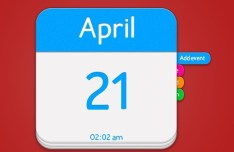 Blue and Withe Calendar App Icon PSD