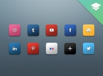 Glossy HD Social Media Icons Pack PSD