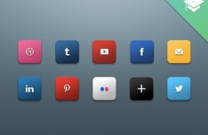 Glossy HD Social Media Icons Pack PSD